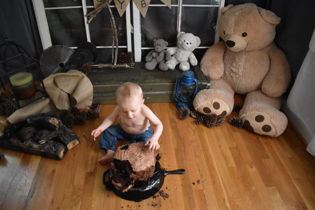 Baby Bear Cake Smash Photoshoot