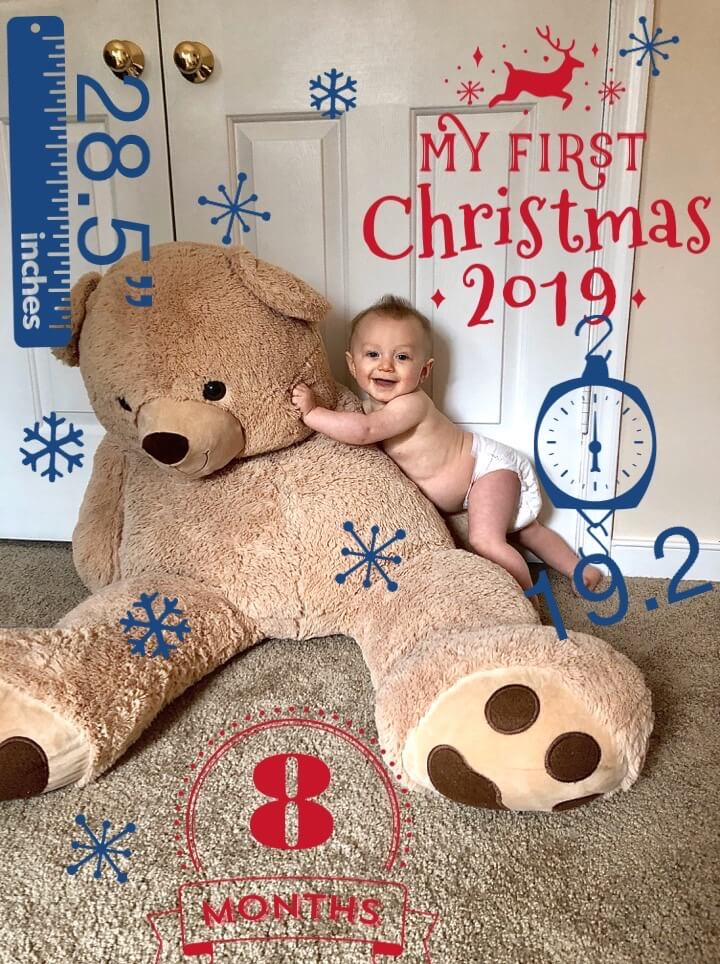 Monthly Baby Photo-shoot With Progression Stats